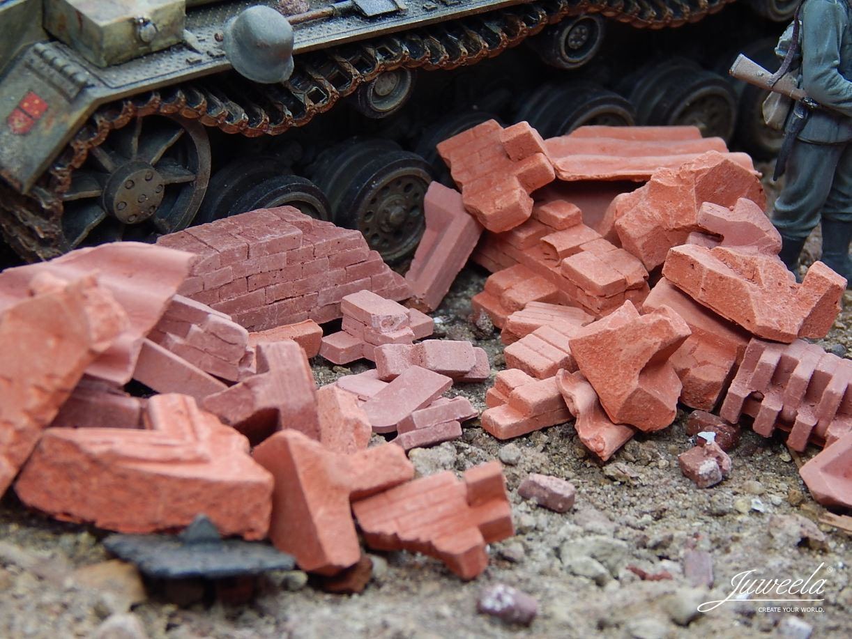 Juweela Models: 1:35 Brick Rubble, Large, Red (200g)
