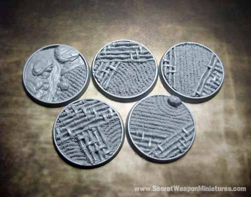 Beveled Bases: Asian Garden 40mm