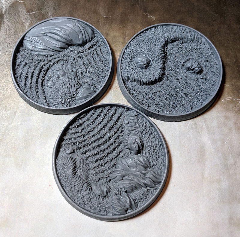 Beveled Edge Bases: Asian Garden 50mm