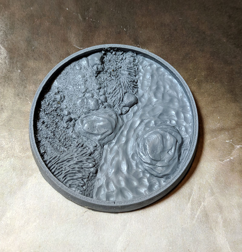 Beveled Bases: Asian Garden 55mm