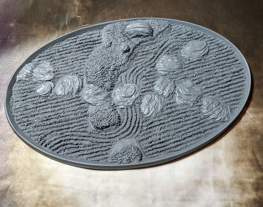 Beveled Edge Bases: Asian Garden 168x106mm