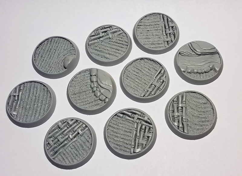 Beveled Edge Bases: Asian Garden 32mm