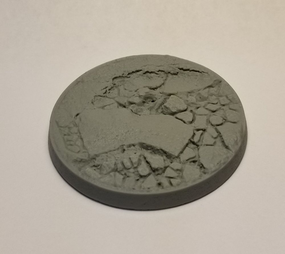 Beveled Edge Bases: 55mm Desert Basin