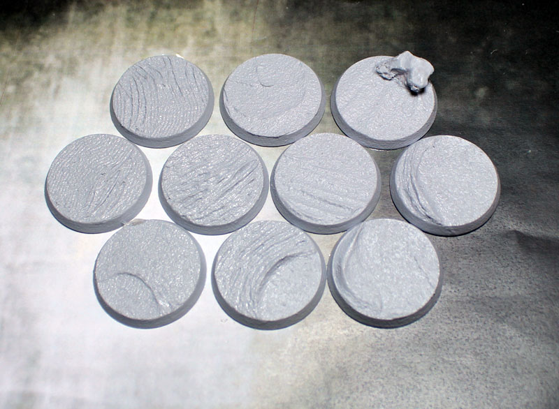 Beveled Bases: Desert Sands 32mm