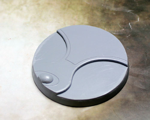 "Beveled Edge Bases: 60mm ""Ghost Stone"" 01"