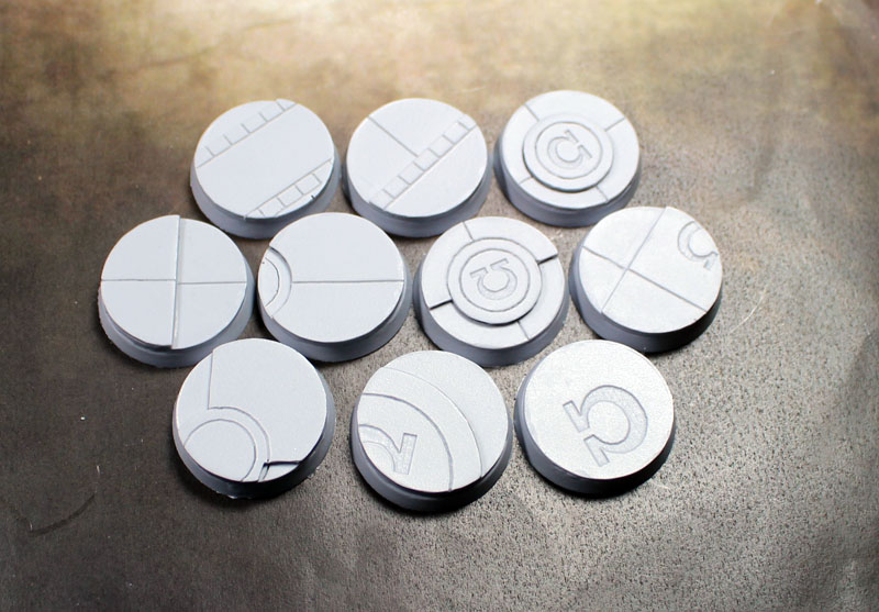 Beveled Bases: Omega Base 25mm