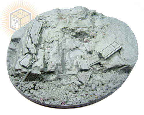 Beveled Bases: Runic Mountain 95x120mm - Click Image to Close