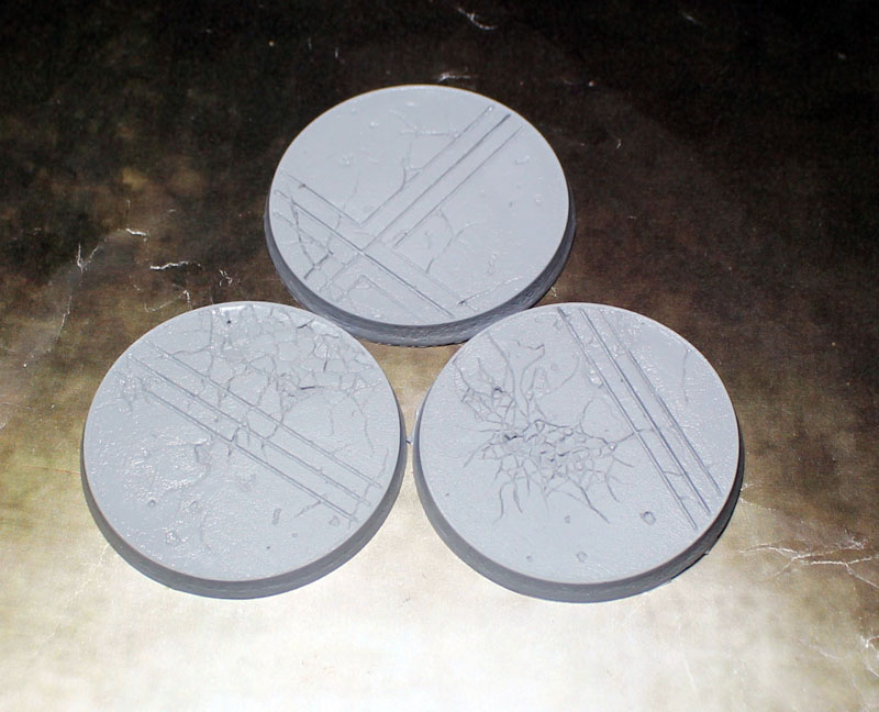 Beveled Edge Bases: Ruined Temple 50mm