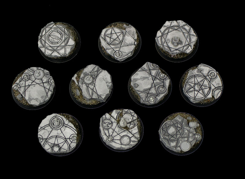 Beveled Edge Bases: Shattered Ritual 25mm