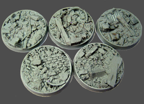 Beveled Bases: Urban Rubble 40mm