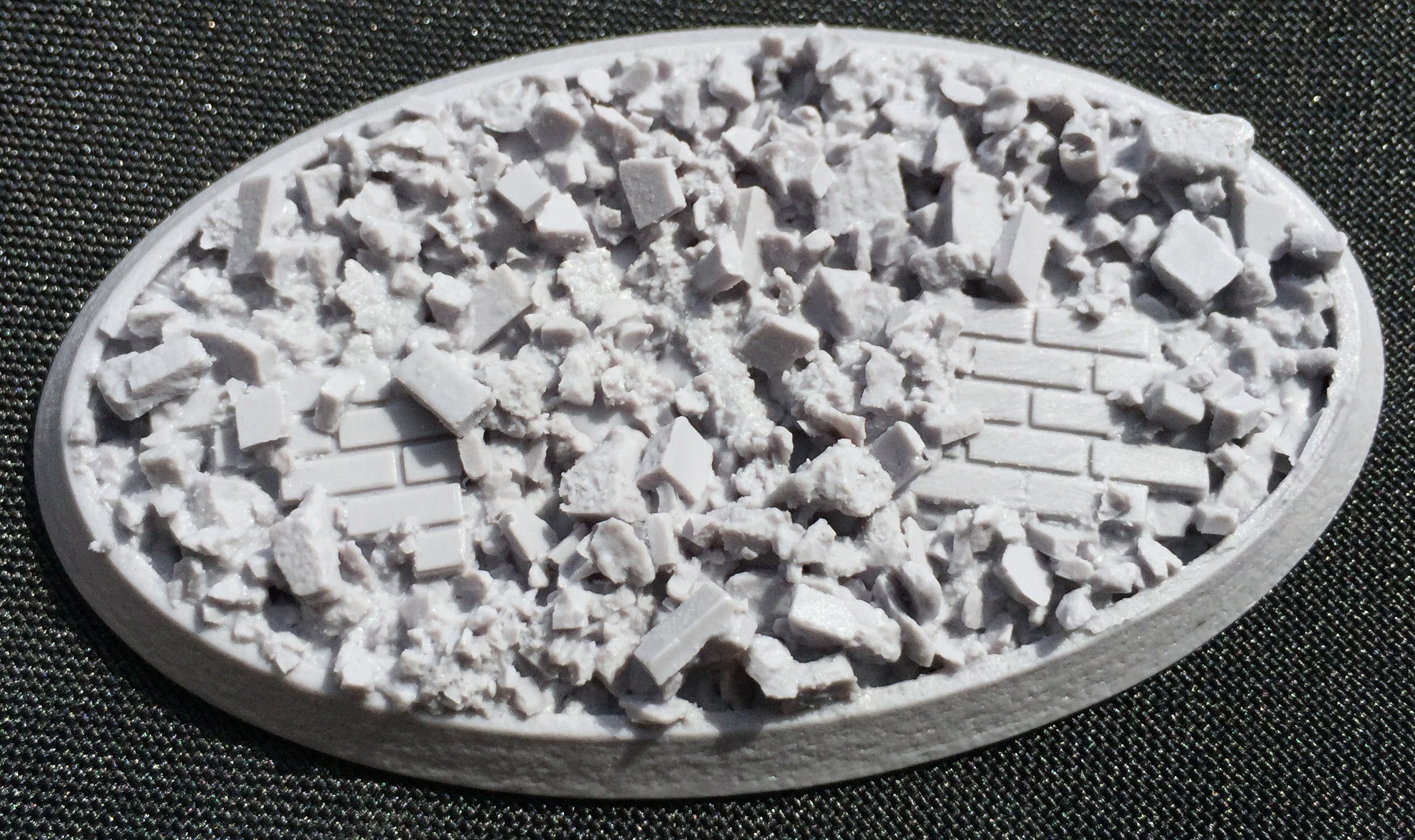 Beveled Bases: Urban Rubble 40mmx75mm