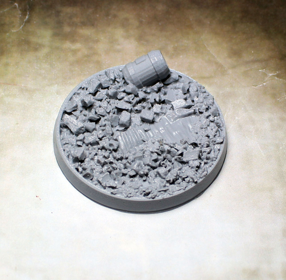 Beveled Bases: Urban Rubble 55mm