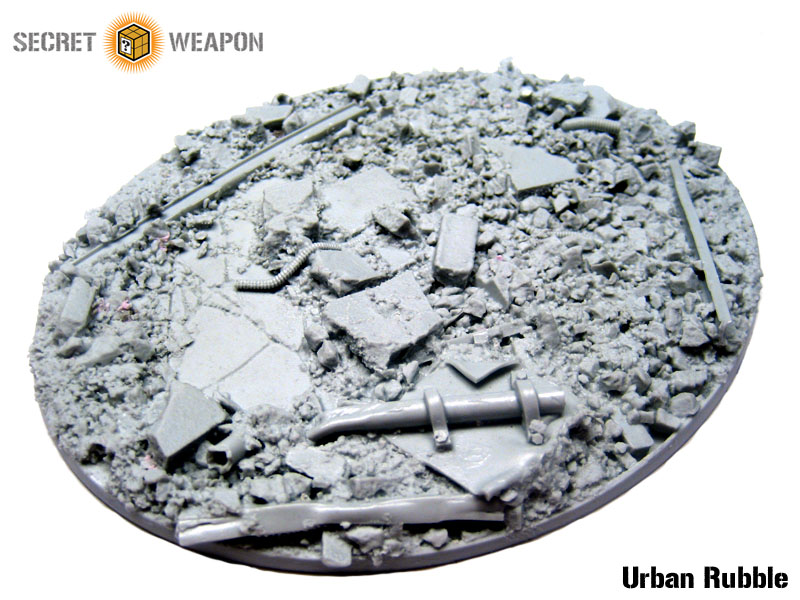 Beveled Bases: Urban Rubble 95x120mm