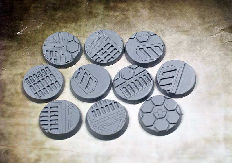Beveled Edge Bases: Warp Core 25mm