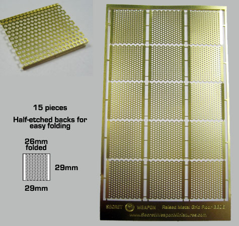 Brass Etch Raised Metal Grid Flooring