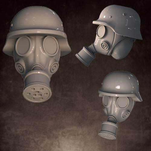 Head Swaps: Gas Masks - Rolled Helmet