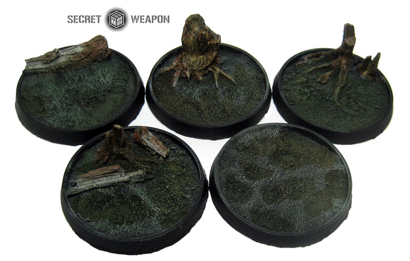 Beveled Bases: Blasted Wetlands 40mm