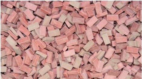 Juweela Models: 1:48 Baked Ceramic Bricks - Red Mix