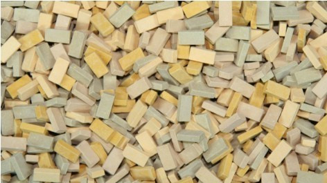 Juweela Models: 1:48 Baked Ceramic Bricks - Beige Mix