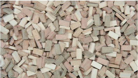 Juweela Models: 1:48 Baked Ceramic Bricks - Terracotta Mix