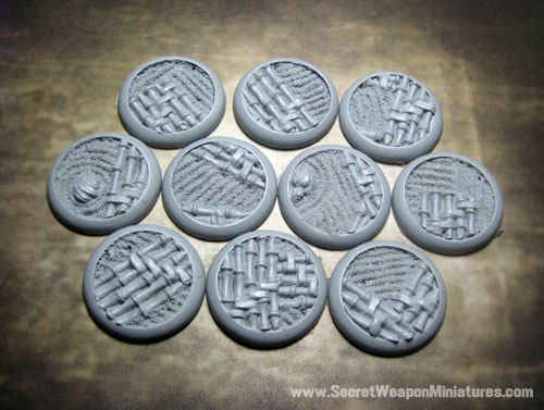 Round Lip Bases: Asian Garden 30mm