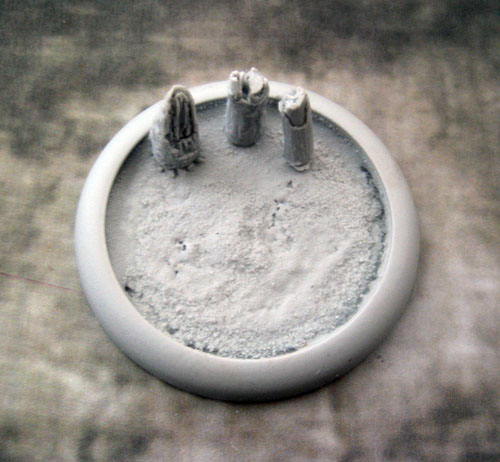 Round Lip Bases: Blasted Wetlands Base 02 50mm
