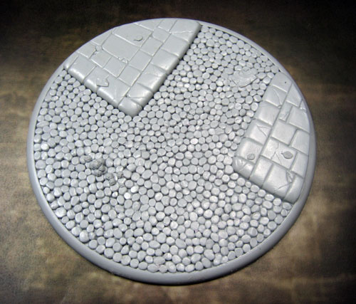 Round Lip Bases: Cobblestone 120mm