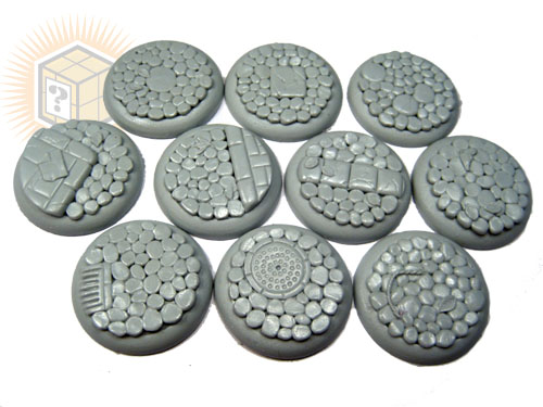 Round Lip Bases: Cobblestone 30mm