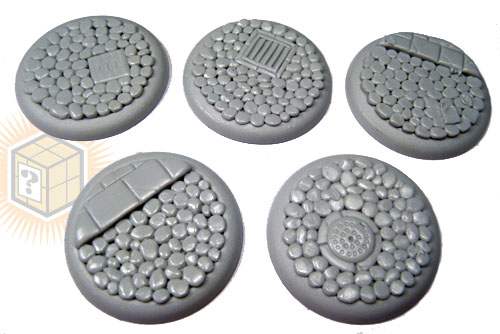 Round Lip Bases: Cobblestone 40mm