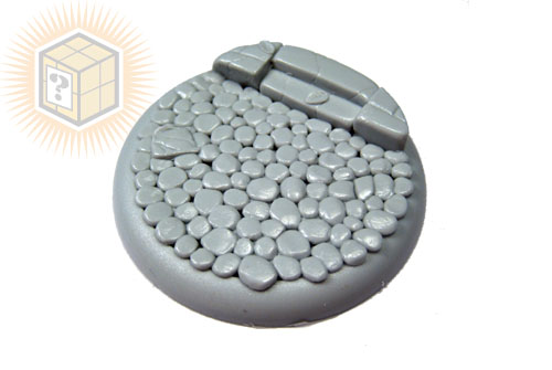 Round Lip Bases: Cobblestone Base 01 50mm