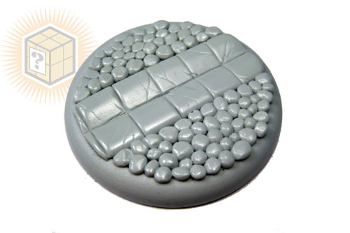 Round Lip Bases: Cobblestone Base 02 50mm