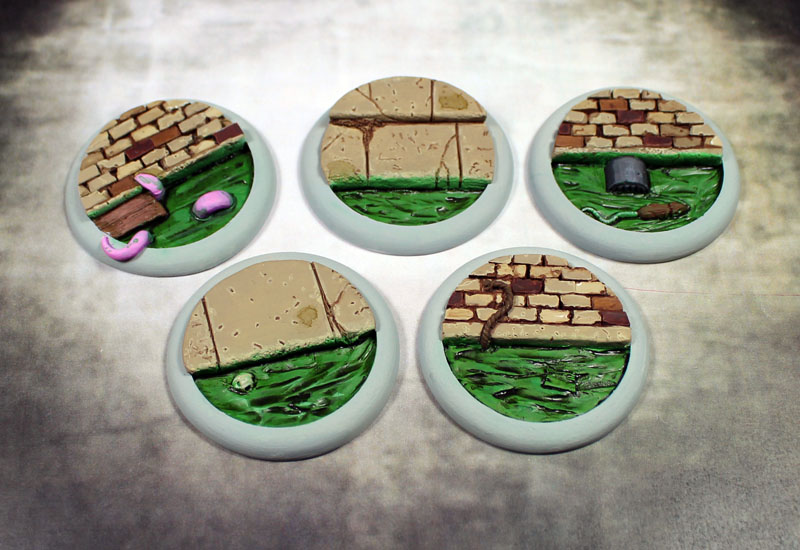 Round Lip Bases: Sewer Works 40mm - Click Image to Close