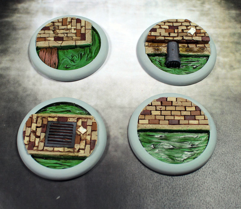 Round Lip Bases: Sewer Works Base 03 50mm - Click Image to Close