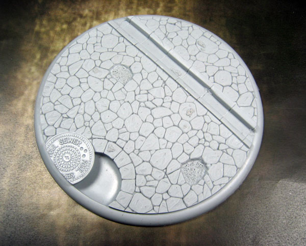 Round Lip Bases: Town Square 01 120mm - Click Image to Close