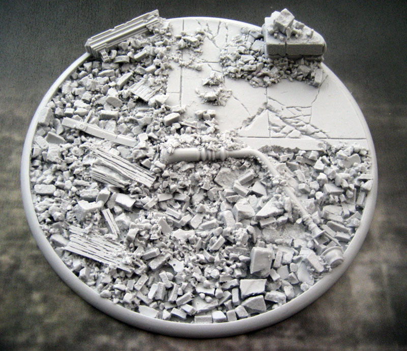 Round Lip Bases: Urban Rubble 120mm