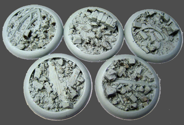 Round Lip Bases: Urban Rubble 40mm