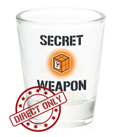 Secret Weapon Shot Glass