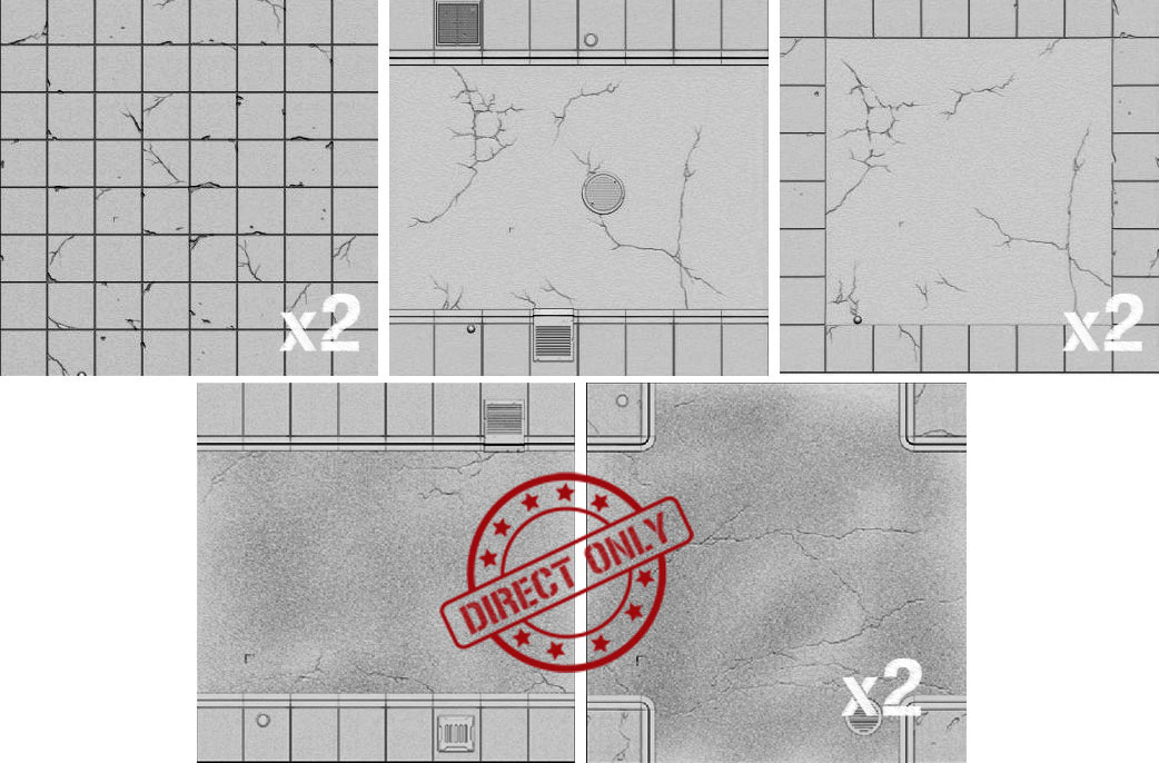 Tablescapes Tiles - Expansion: Urban Streets - Clean (8 Tiles)