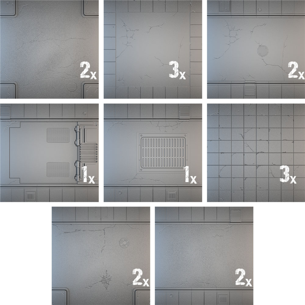 Tablescapes Tiles: Urban Streets - Clean (16 Tiles)