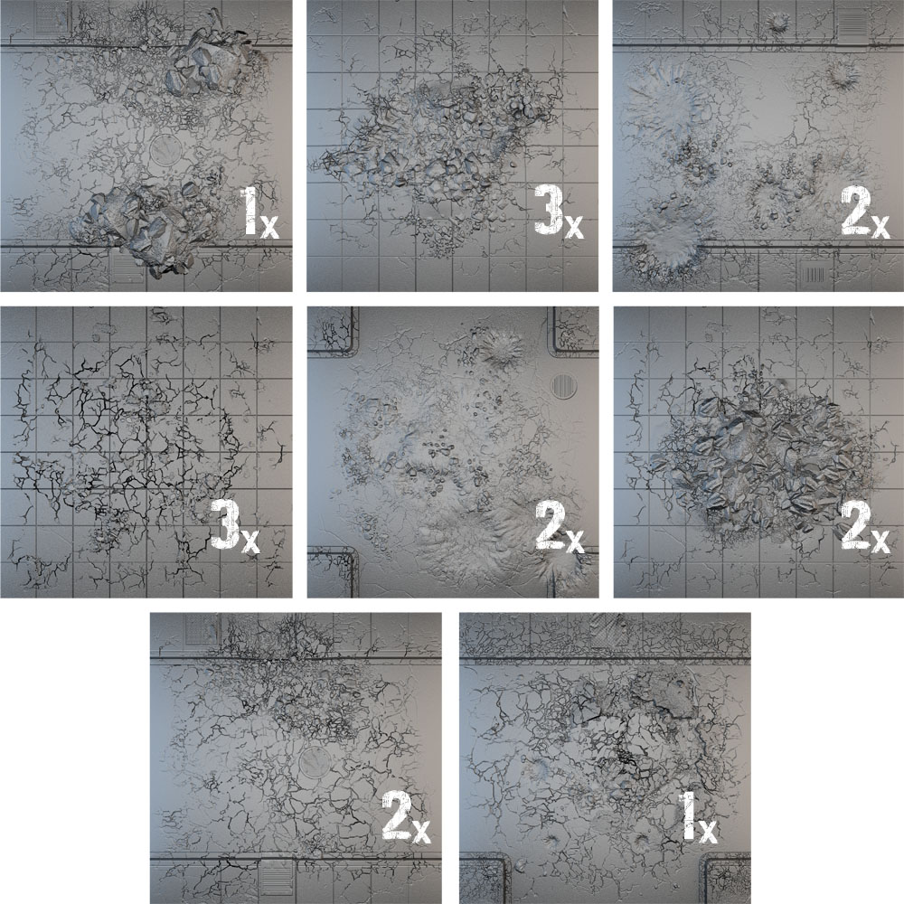 Tablescapes Tiles: Urban Streets - Damaged (16)