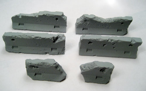 Terrain: Jersey Barriers - Damaged - Set of 5