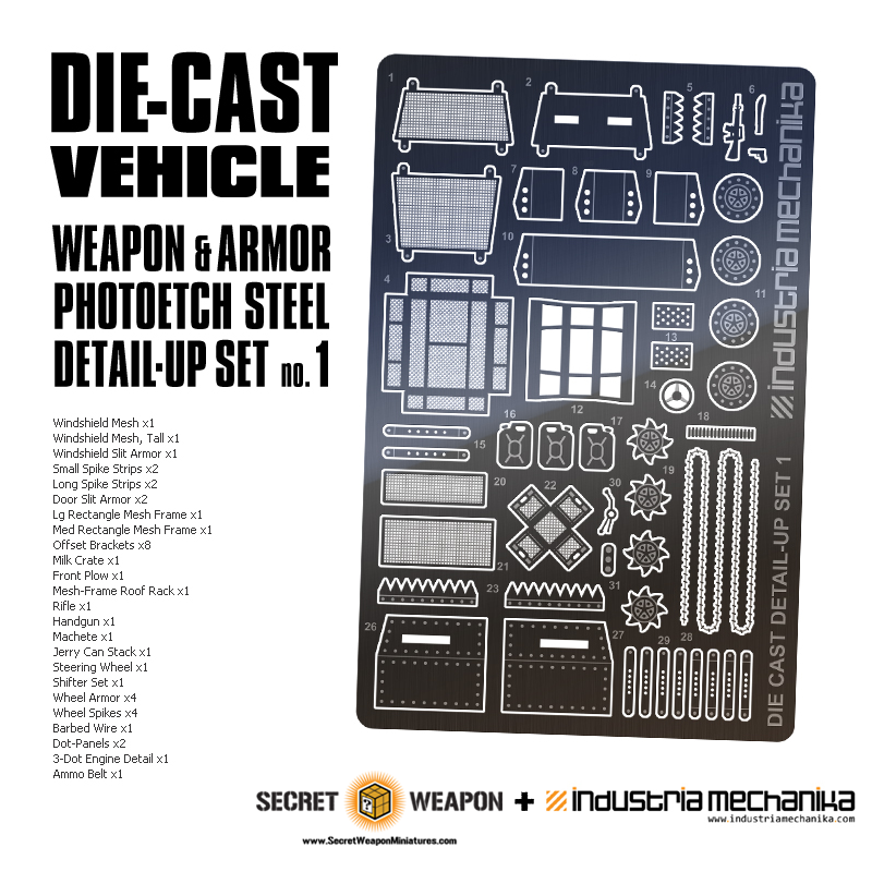 Diecast Vehicle Detail Set 1